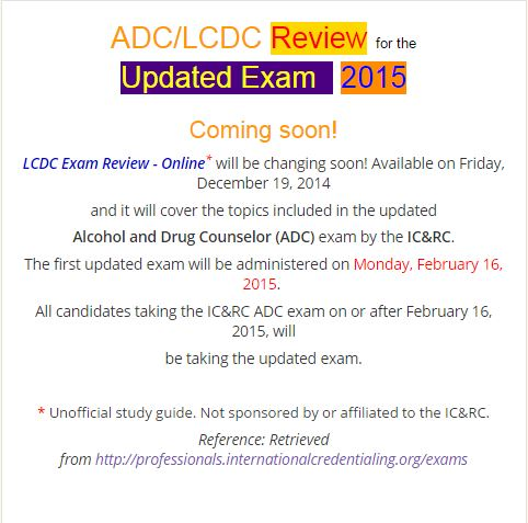 LCDC Exam Review 2015